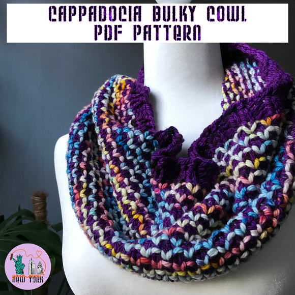 Cappadocia Bulky Cowl Pattern (bulky weight) -- digital download