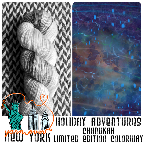 CHANUKAH 2021 -- Limited Edition -- pre-order hand-dyed yarn