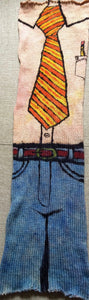 POWER TIE -- hand-painted sock blank -- dyed to order yarn