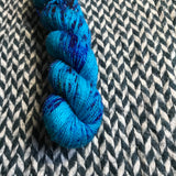MERMAID PARADE -- Half-Skein -- Broadway sparkle sock yarn -- ready to ship