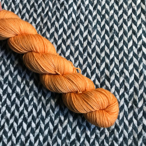 ORANGE PEEL -- Half-Skein -- Times Square sock yarn -- ready to ship