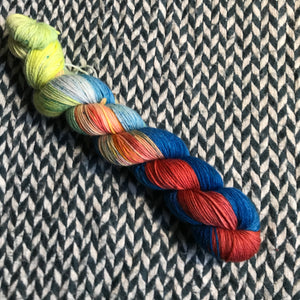 SLICE OF LIFE -- Half-Skein -- Times Square sock yarn -- ready to ship