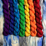 Speckled Rainbow *7 Mini-Skein Set* -- Times Square sock yarn -- ready to ship