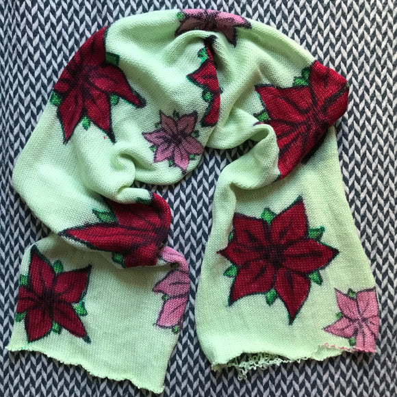 POINSETTIAS -- ready to ship -- hand-painted single sock blank