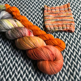 SUGAR MAPLE FAIRY with Pumpkin * Sock Set * -- full-size skein with mini-skein -- dyed to order yarn