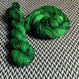 JALAPEÑO POPPERS -- Alphabet City tweed sock yarn -- ready to ship