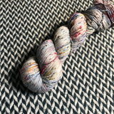 BEJEWELED MOONSTONE -- Alphabet City tweed sock yarn -- ready to ship
