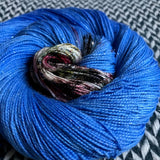 COMMUTERS KNITTING -- Broadway sparkle sock yarn -- ready to ship