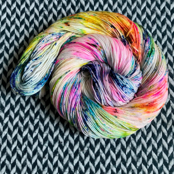 THE COLOR PARROT -- Randall's Island merino/nylon sport yarn-- ready to ship
