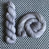 HIPPOCAMPUS -- Broadway silver sparkle sock yarn -- ready to ship
