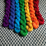 Speckled Rainbow *7 Mini-Skein Set* -- Brooklyn Bridge worsted yarn -- ready to ship