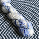 WHITE JEANS -- Greenwich Village merino DK yarn -- ready to ship