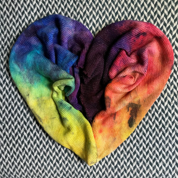MIDNIGHT RAINBOW -- hand-painted sock blank -- dyed to order yarn