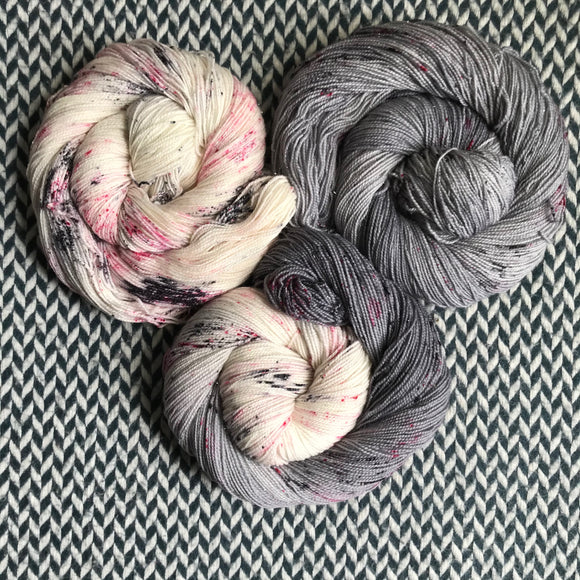 I LOVE NY in the RAIN *3 Skein Set*-- Broadway sparkle sock yarn -- ready to ship