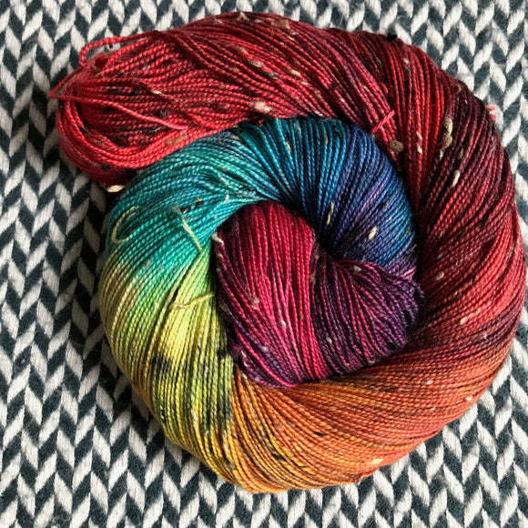 DUSK RAINBOW -- Alphabet City tweed sock yarn -- ready to ship
