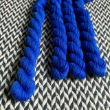 Eclair Bleu -- mini-skein -- Times Square sock yarn-- dyed to order