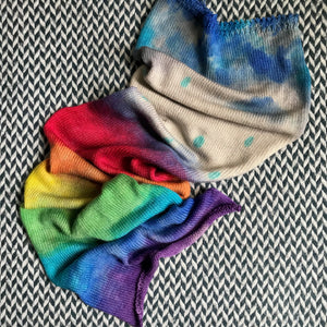 RAIN AND RAINBOWS -- hand-painted sock blank -- dyed to order yarn