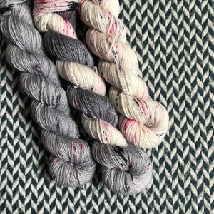I LOVE NY in the RAIN *3 Half-Skein Set*-- Broadway Sparkle sock yarn --ready to ship