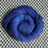 DON'T PANIC, PEACOCK -- Harlem sock yarn -- ready to ship