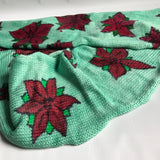 POINSETTIAS -- hand-painted sock blank -- dyed to order yarn