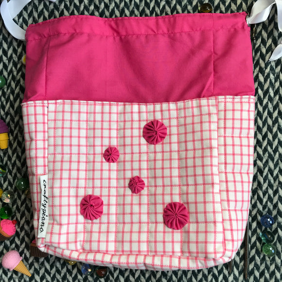 PERFECTLY PINK -- project bag -- ready to ship