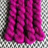 Boom Berries -- mini-skeins -- Broadway sparkle sock yarn -- ready to ship