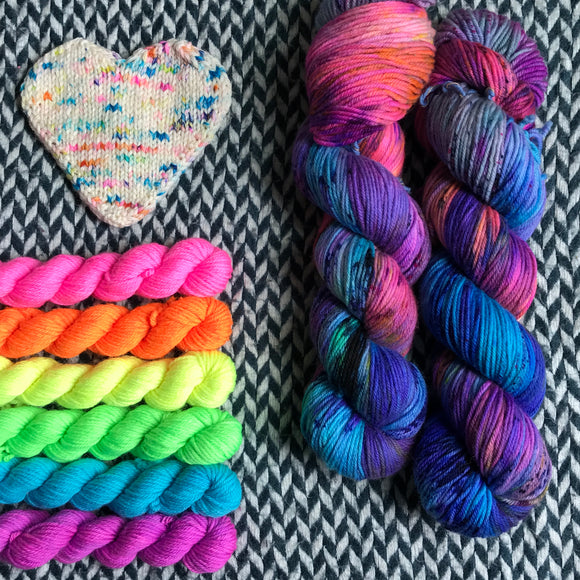 CAKE MY DAY plus Highlighter Pack -- *Celebrate with Love Set* DK weight yarn -- ready to ship
