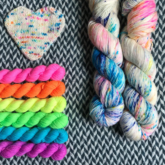 THE COLOR PARROT plus Highlighter Pack -- *Celebrate with Love Set* DK weight yarn -- ready to ship