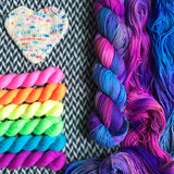 CAKE MY DAY plus Highlighter Pack -- *Celebrate with Love Set* Times Square sock yarn -- ready to ship