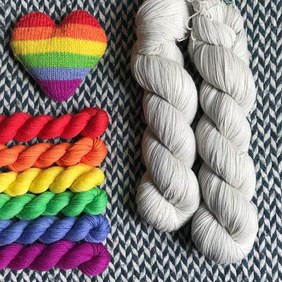 MAN ON THE MOON plus Sun Dog Set -- *Celebrate with Love Set* Times Square sock yarn -- ready to ship