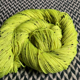 CITRON TOXIQUE -- Alphabet City tweed sock yarn -- ready to ship