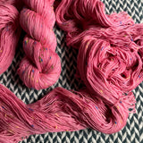 PINK IONS -- Alphabet City tweed sock yarn -- ready to ship