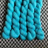 Eau Electrique -- mini-skein -- Broadway sparkle sock yarn-- ready to ship