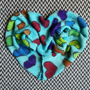 LOVE IS LOVE -- double-stranded hand-painted sock blank -- ready to ship
