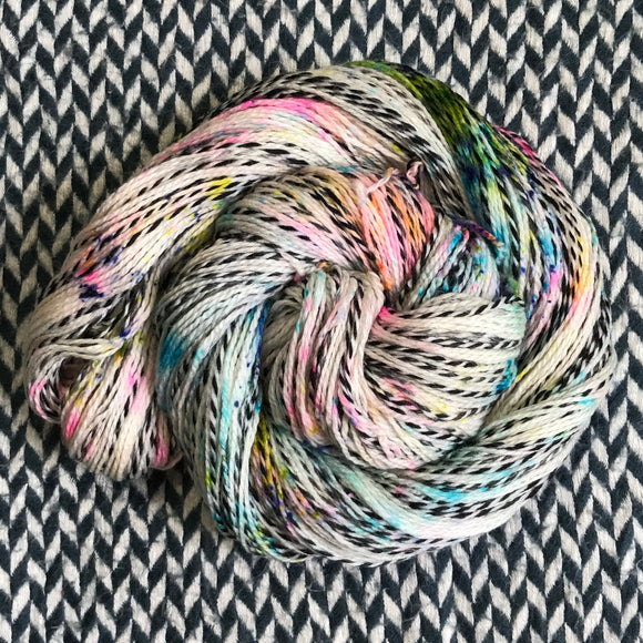 THE COLOR PARROT -- Wave Hill zebra fingering yarn -- ready to ship