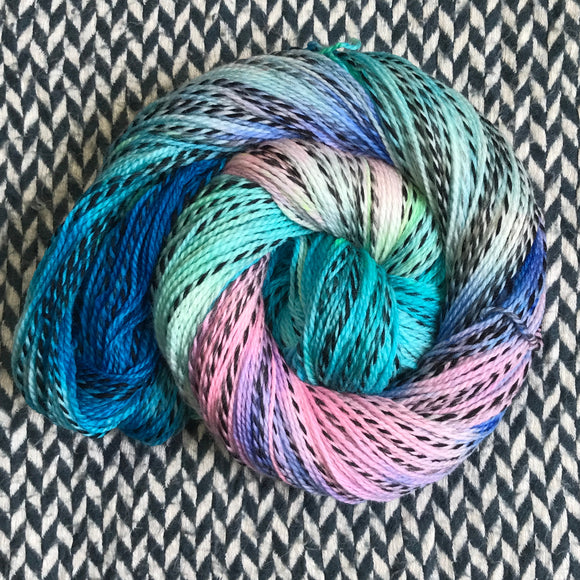 HIPPOCAMPUS -- Wave Hill zebra fingering yarn -- ready to ship