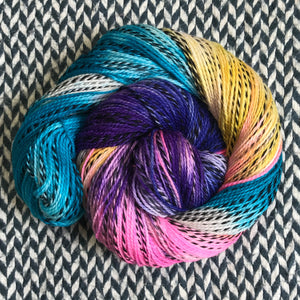 JELLYWISH -- Wave Hill zebra fingering yarn -- ready to ship