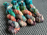 RED-HEADED STEP-MERMAID --  Flushing Meadows bulky merino yarn -- ready to ship