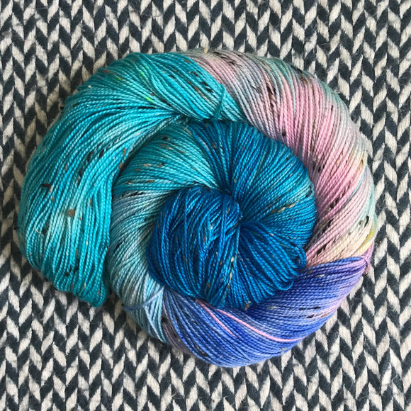 HIPPOCAMPUS -- Alphabet City tweed sock yarn -- ready to ship