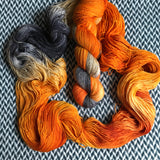 MONARCH CLOWNFISH -- Broadway sparkle sock yarn -- ready to ship