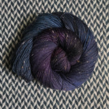 BLACK OPAL -- Alphabet City tweed sock yarn (black/grey nep) -- ready to ship