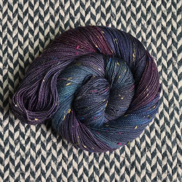 BLACK OPAL -- Alphabet City tweed sock yarn (colorful nep) -- ready to ship