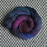 DUSK RAINBOW -- hand-painted sock blank -- dyed to order yarn