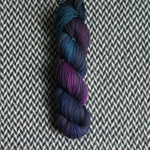 THE COLOR PARROT -- hand-painted sock blank -- dyed to order yarn