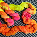 WALKING ON THE SUN -- Times Square sock yarn -- ready to ship