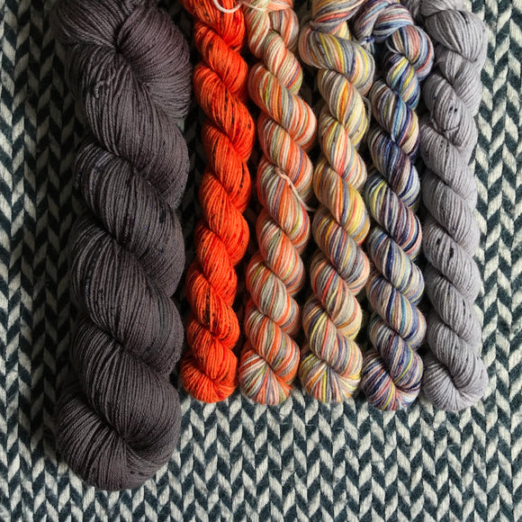 WALKING ON THE SUN -- Astoria merino/alpaca/nylon fingering yarn -- ready to ship