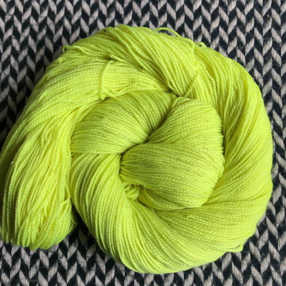 CITRON TOXIQUE -- Broadway sparkle sock yarn -- ready to ship