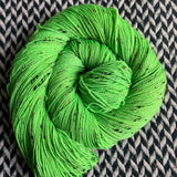 ABSINTHE LUMINEUSE -- Alphabet City tweed sock yarn -- ready to ship