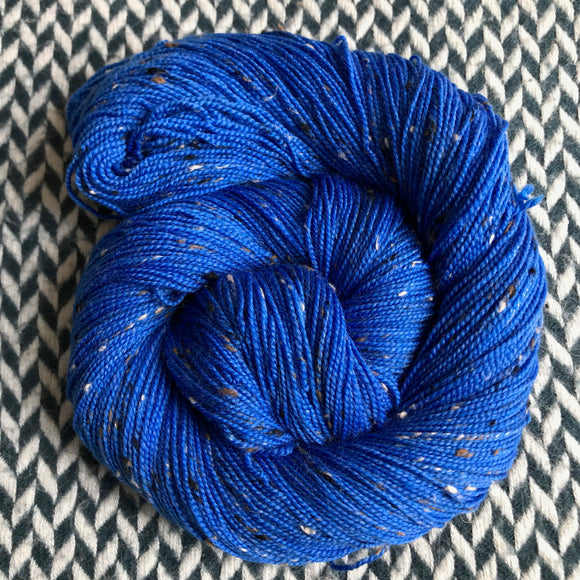 ECLAIR BLEU -- Alphabet City tweed sock yarn -- ready to ship