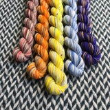 Underwater Butterflies *5 Mini-Skein Set* -- Times Square sock yarn -- ready to ship